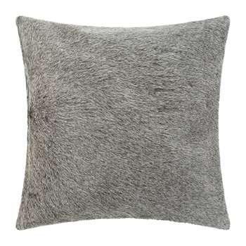A by Amara - Cowhide Cushion - Grey (H45 x W45cm)