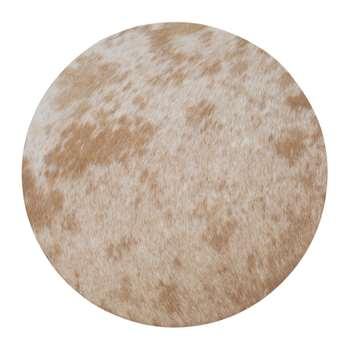 A by Amara - Cowhide Seat Pad - Salt & Pepper Brown (H37 x W37cm)