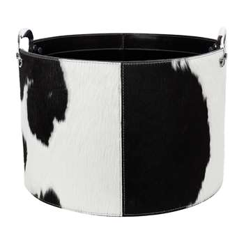 A by Amara - Cowhide Storage Basket (H27 x W40 x D40cm)
