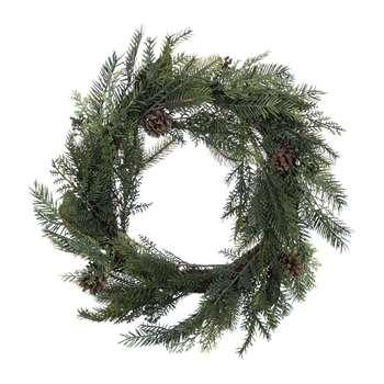 A by Amara - Deco Natural Pine Cone Wreath - Large (H60 x W60cm)
