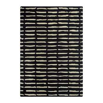 A by Amara - Dotted Lines Rug - Black & White (140 x 200cm)
