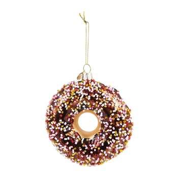 Vondels - Doughnut Tree Decoration - Brown (H11 x W11cm)
