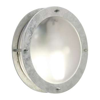 A by Amara - Galvanized Steel Malte Outdoor Wall Light (H24 x W24cm)