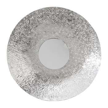 A by Amara - Hammered Silver Wall Mirror (Diameter 71cm)