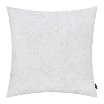 A by Amara - Hand Appliqued Cotton Cushion - White (H50 x W50cm)