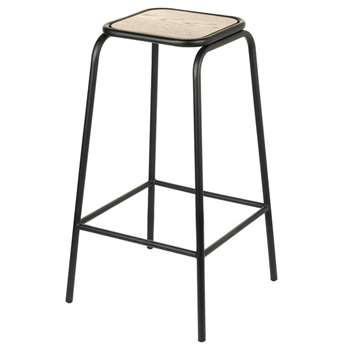A by Amara - Harrow Barstool - Natural (H74 x W42 x D42cm)