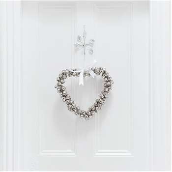 A by Amara - Heart Hanging Ornament - Silver (H35 x W35cm)