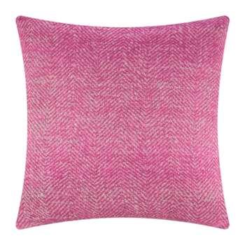 A by Amara - Herringbone Cushion - Pink (60 x 60cm)