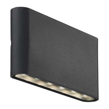A by Amara - Kinver Outdoor Wall Light - Black (H9 x W17.5cm)