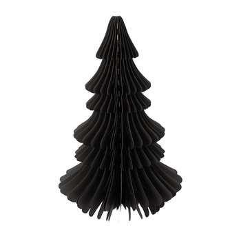 A by Amara - Large Paper Christmas Tree Decorative Ornament - Black (Height 70cm)
