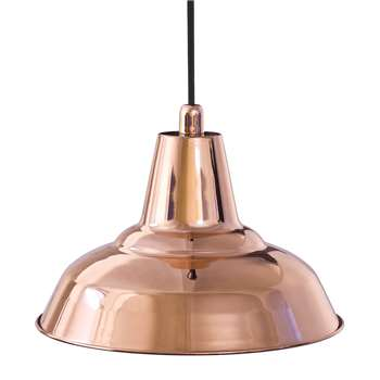 A by Amara - Lyne E27 Metal Pendant Light - Copper (H20 x W29 x D29cm)