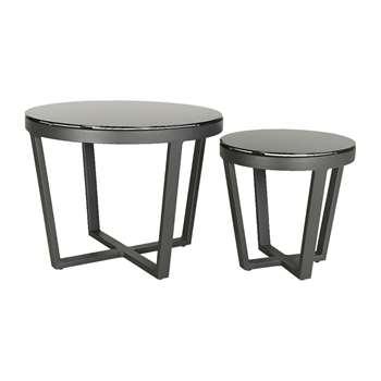 A by Amara - Malaga Coffee Table - Set of 2 - Black (H60 x W47 x D47cm)