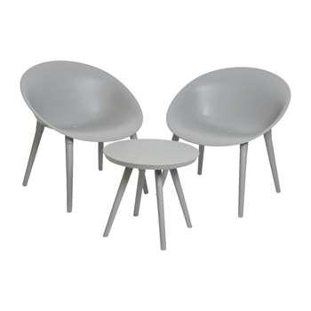 A by Amara - Marbella Sofa Set - Light Grey (H78.5 x W74.5 x D67cm)