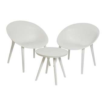 A by Amara - Marbella Sofa Set - White (H78.5 x W74.5 x D67cm)