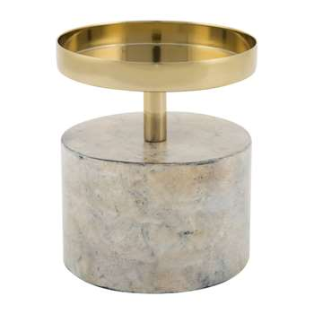 A by Amara - Marwood Pillar Candle Holder - Small (13.5 x 10cm)
