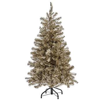 A by Amara - Matt Foil Artificial Pine Christmas Tree - 5ft (Height 152cm)