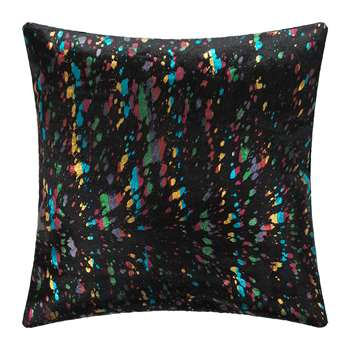 A by Amara - Metallic Acid Cowhide Cushion - Multi (H45 x W45cm)
