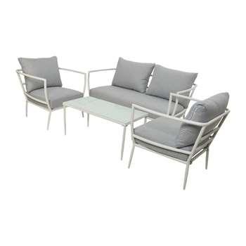 A by Amara - Milan Sofa Set - White (H73.5 x W161 x D70cm)