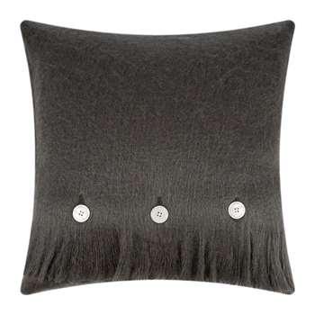 A by Amara - Mohair Feel Cushion - Charcoal (H45 x W45cm)
