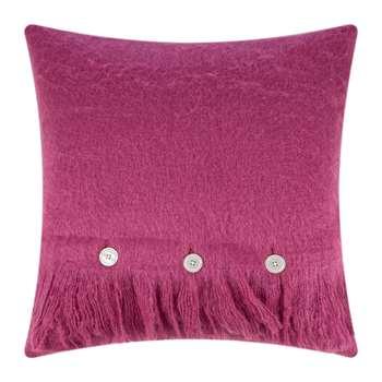 A by Amara - Mohair Feel Cushion - Fuchsia (H45 x W45cm)