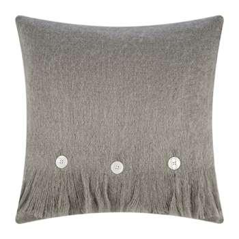 A by Amara - Mohair Feel Cushion - Mushroom (H45 x W45cm)