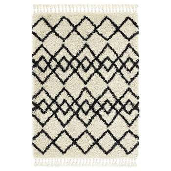 A by Amara - Morocco Rug - Ivory/Charcoal (H120 x W170cm)
