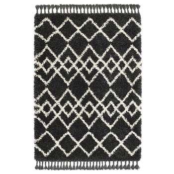 A by Amara - Morocco Rug - Charcoal/Ivory (H120 x W170cm)