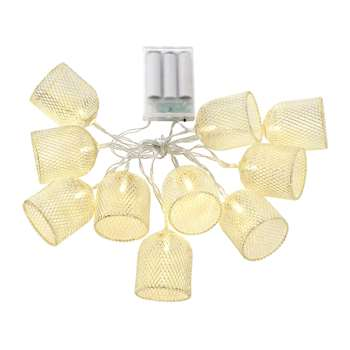 A by Amara - Mushroom Cage String Lights - Gold (Height 160cm)
