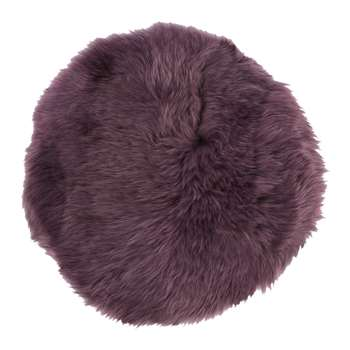 A by AMARA - New Zealand Sheepskin Seat Pad - Long Wool - Aubergine (H38 x W38cm)