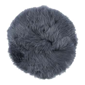 A by Amara - New Zealand Sheepskin Seat Pad - Long Wool - Navy (H38 x W38cm)
