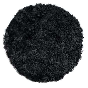 A by Amara - New Zealand Sheepskin Seat Pad - Short Wool Curly - Black (H38 x W38cm)