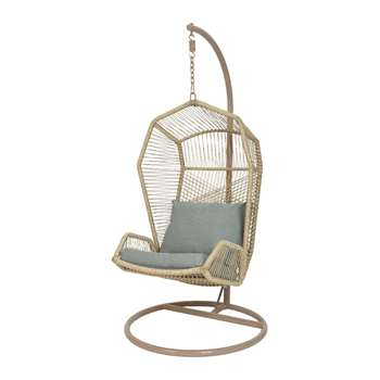 A by Amara - Nimbin Hanging Chair - Taupe (H187 x W108 x D95cm)