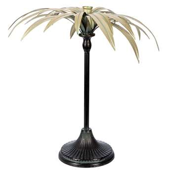 A by Amara - Palm Tree Candle Holder - Gold (H37 x W24 x D24cm)