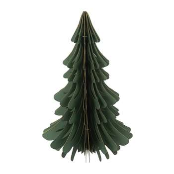A by Amara - Paper Christmas Tree Decorative Ornament - Forest Green (Height 37.5cm)
