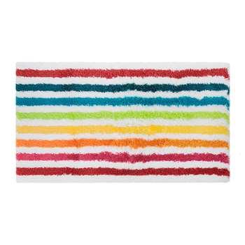 A by Amara - Rainbow Stripe Bath Mat (50 x 80cm)