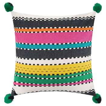 A by Amara - Regale Pom Pom Cushion (H50 x W50cm)