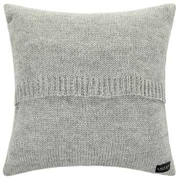 A by Amara - Ribble Knitted Cushion - Grey (60 x 60cm)
