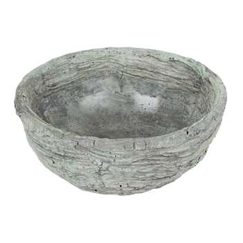 A by Amara - Ridged Rock Bowl (H9 x W22 x D22cm)