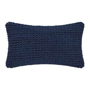 A by Amara - Rope Cushion - Blue (H30 x W50cm)