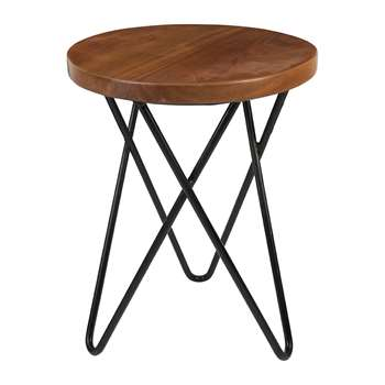 A by Amara - Round Wooden Coffee Table (Height 41cm)
