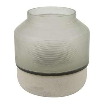 A by Amara - Sandstone Vase - Small (H14 x W12 x D12cm)