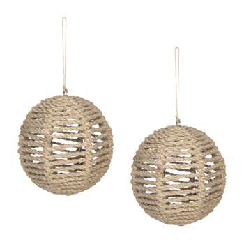 A by Amara - Set of 2 Rope Tree Decorations (H9 x W9 x D9cm)