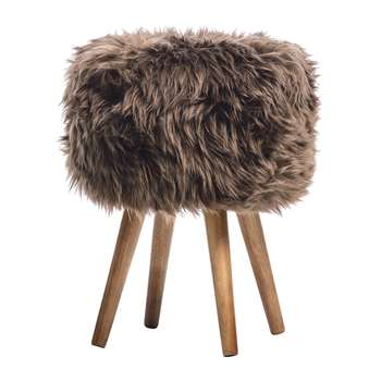 A by Amara - Sheepskin Stool - Chocolate (40 x 30cm)
