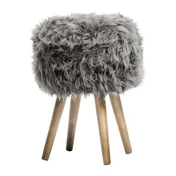 A by Amara - Sheepskin Stool - Grey (40 x 30cm)