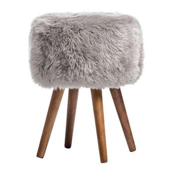 A by Amara - Sheepskin Stool - Taupe (40 x 30cm)