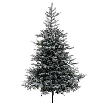 A by Amara - Snowy Grandis Fir Artificial Christmas Tree - 6ft (H180 x W132cm)