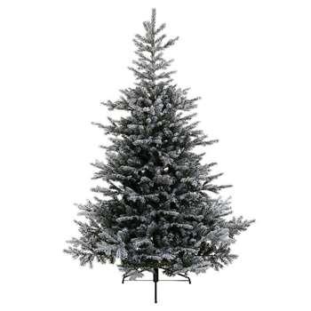 A by Amara - Snowy Grandis Fir Artificial Christmas Tree - 7ft (H210 x W152cm)