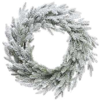 A by Amara - Snowy Norway Wreath - Green/White (H60 x W60cm)