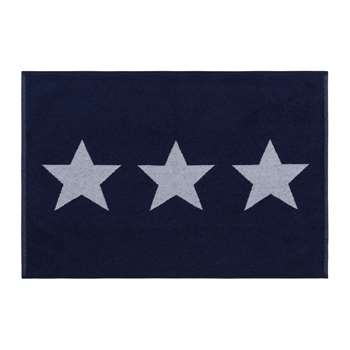 A by Amara - Star Bath Mat - Navy (H60 x W90cm)