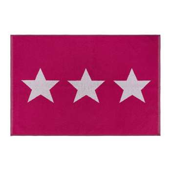 A by Amara - Star Bath Mat - Pink (H60 x W90cm)